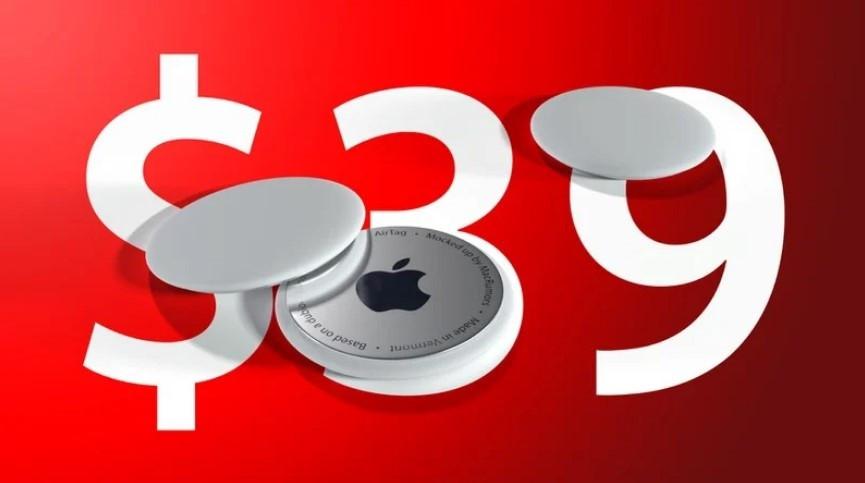 国外消息称苹果 AirTags 和50美分差不多大 仅售 39 美元