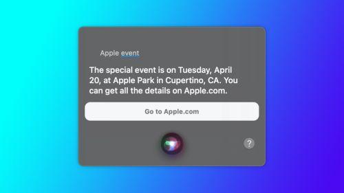 震惊!Siri居然透露2021苹果发布会时间