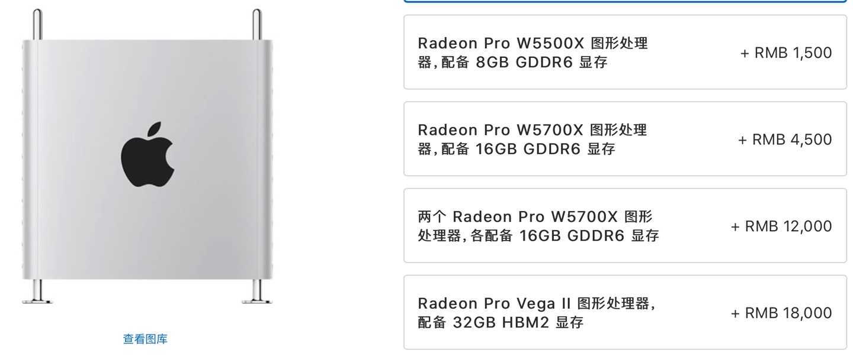 AMD Radeon Pro W6900X 显卡曝光 Mac Pro 将可选配